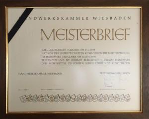 Meisterbrief_Karl-Goldschmidt