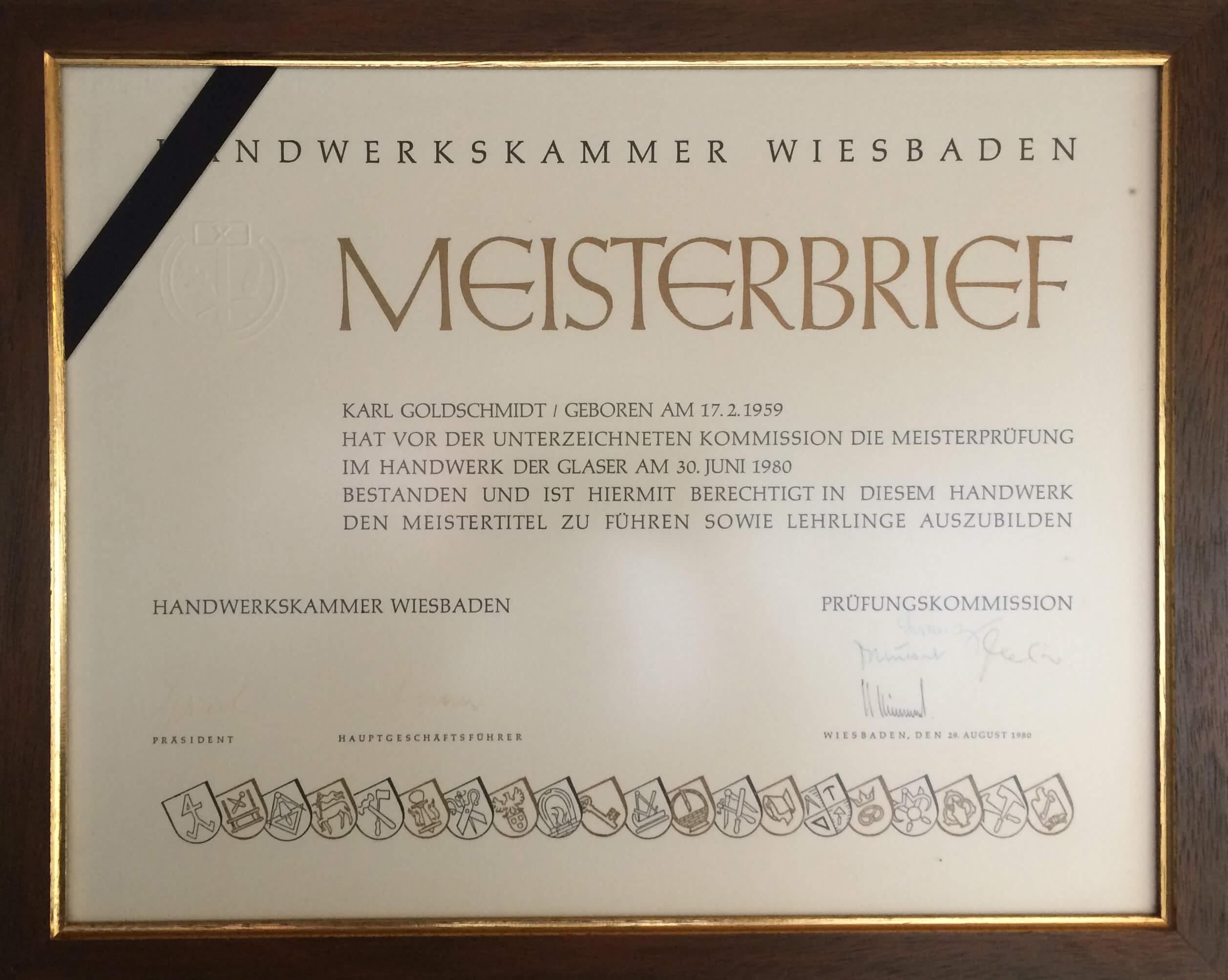 Glaserei Wiesbaden über uns glas goldschmidt gmbh co kg